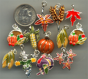 thanksgiving and harvest charms