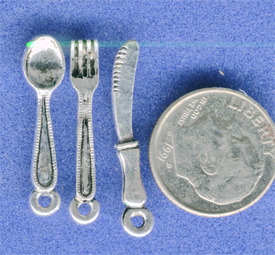 knife, fork, spoon charm