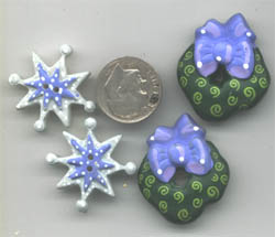 cnowflake buttons