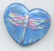 Polymer Clay Dragonfly Heart Bead