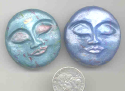 Polymer Clay Content Moonface Bead