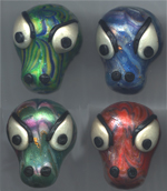 Polymer Clay Lizard Face Bead