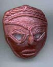 Polymer Clay Tribal Mask Bead