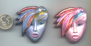 Polymer Clay Art Deco Feather Hat Woman