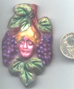 Polymer Clay Harvest Woman Bead