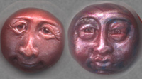 Polymer Clay  Fun Face Bead