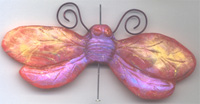 Polymer Clay Shimmery Wing  Body Bead