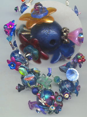 Mixed media altered beads